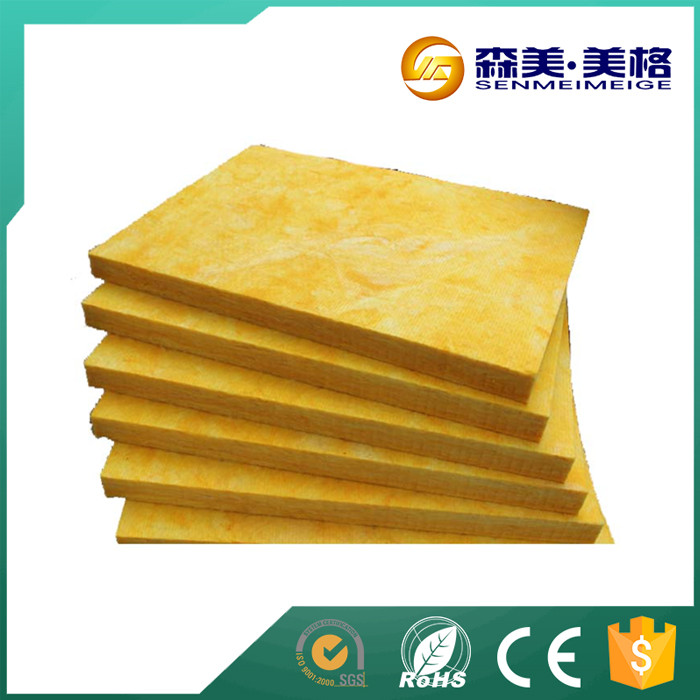 Glasswool board for thermal and acoustic insulation of HVAC ducts