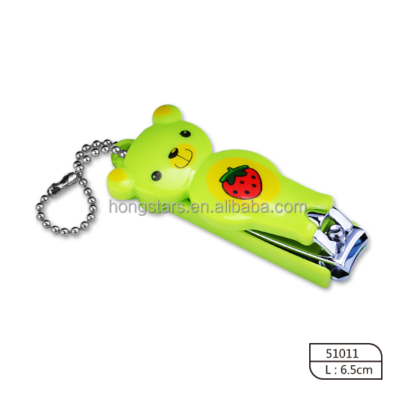 2016 fancy baby nail clipper with chain plastic holder