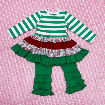 2015 Wholesale Baby Cotton Clothing Outfit Children Christmas Clothes
