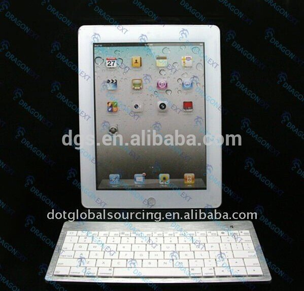 Wholesale Mini Aluminum Bluetooth Wireless Silver & White Smart Phone Tablet PC Keyboard