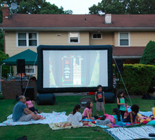 outdoor indoor rear projector movie inflatable screen for sale