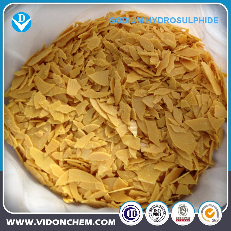 Professional Factory NaHS Sodium Hydrosulfide Flakes for leather industry / Copper Gold Mining