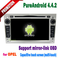 2 din 7 inch opel zafira android 4.4 gps with Capacitive screen 3g/wifi bluetooth mirror-link +hotspot+mp3/radio/dvd 2005~2011