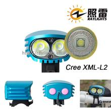 Most popular rechargeable bicycle light led headlights Raylights bike flash led light made in China