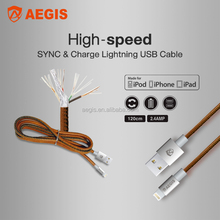 2.4A MFI Certified charging and snyc cable 1m/1.2m/2m mfi cable