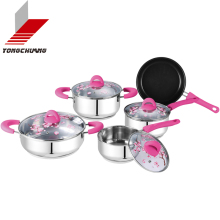 Quality size 16-30cm stainless steel camping cooking pot set with long service life