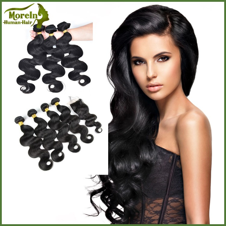 Guangzhou supplier body wave texture Brazilian human hair extensions
