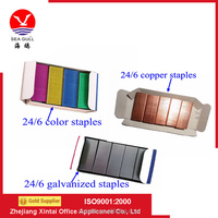 The Galvanized, Colored , Copper 24/6 Office Staples With High Quality