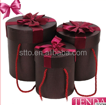 The most popular style of Custom Round Cylinder Hat Paper Gift Packaging Box for Flowers