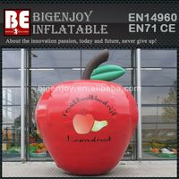 Red Inflatable Apple Model For Advertising