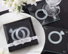 Factory Direct Wedding Favors Ring Design Coasters