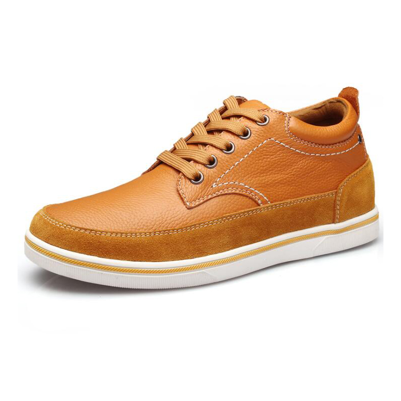 Genuine Leather Hidden Heel Casual Shoes and Sneakers for <strong>Men</strong>
