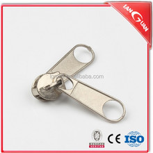 Wholesale cheap zipper accessory, two sided zipper slider, reversible metal slider