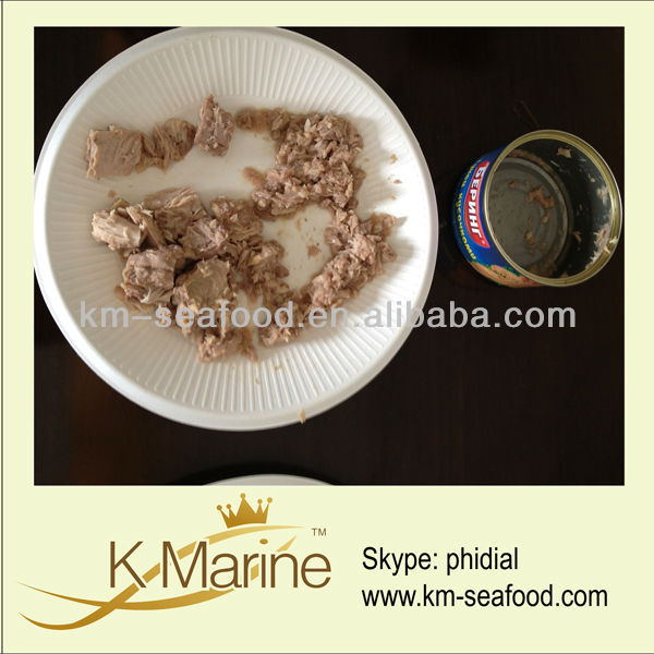 Canned tuna in brine/oil in different sizes
