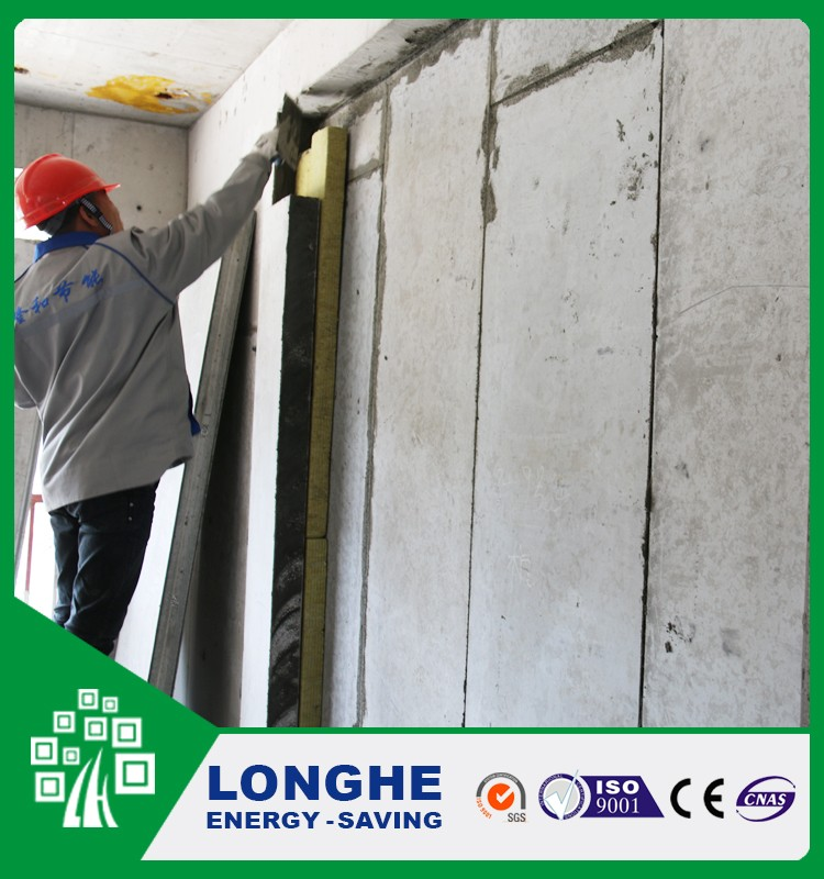 Longhe new construction material lightweight eps cement sandwich wall panel