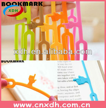 Silicone Bookmark/Silicone Pointing Finger Bookmark