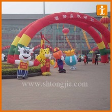 Customized cheap inflatable arch,inflatable santa arch
