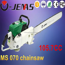 Powerful 105cc gasoline chain saw petrol heavy duty chainsaw with CE certificates
