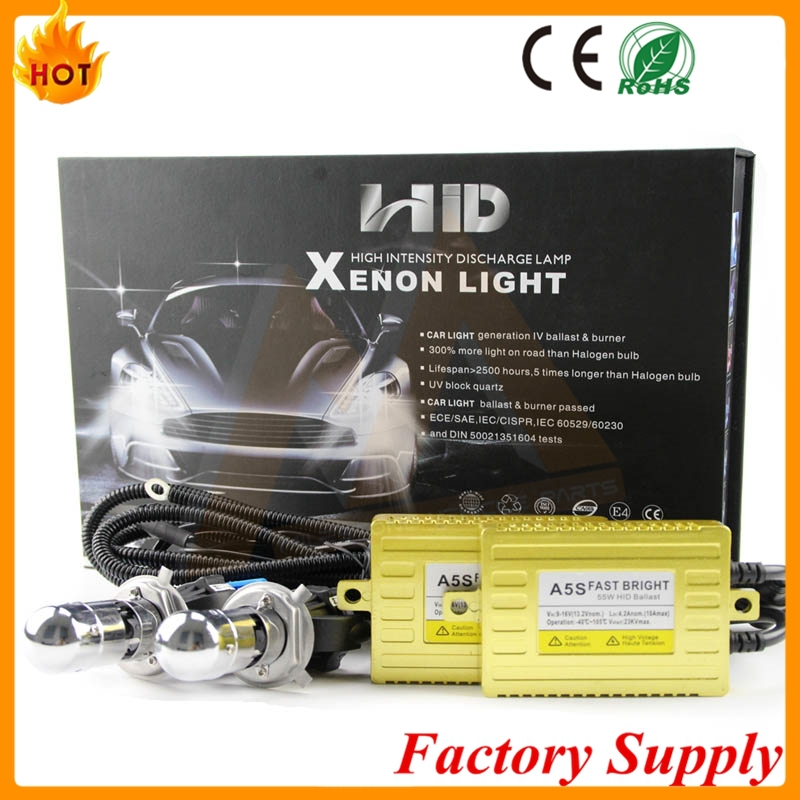 Long Life Time high power super bright 1 second start 6000k 35w h1 HID kit