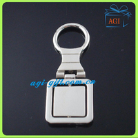 custom promotional metal rotatable keychain spinner key ring