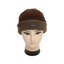 Fashion new style unique 100% acrylic winter knit beanie custom sport beanie hat