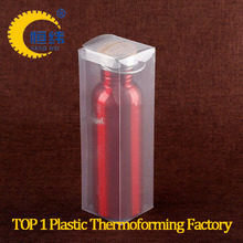 PVC scrub plastic floding box for stainless steel insulation cup packaging with customized size