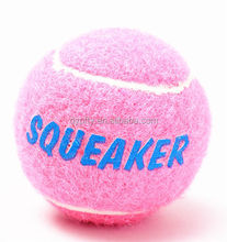 Eco-Friendly Feature squeaky tennis ball toy with logo printing for dogs price