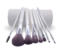 8pcs high quality makeup blush brush set eye shadow cosmetic brush with cylinder cup holder case