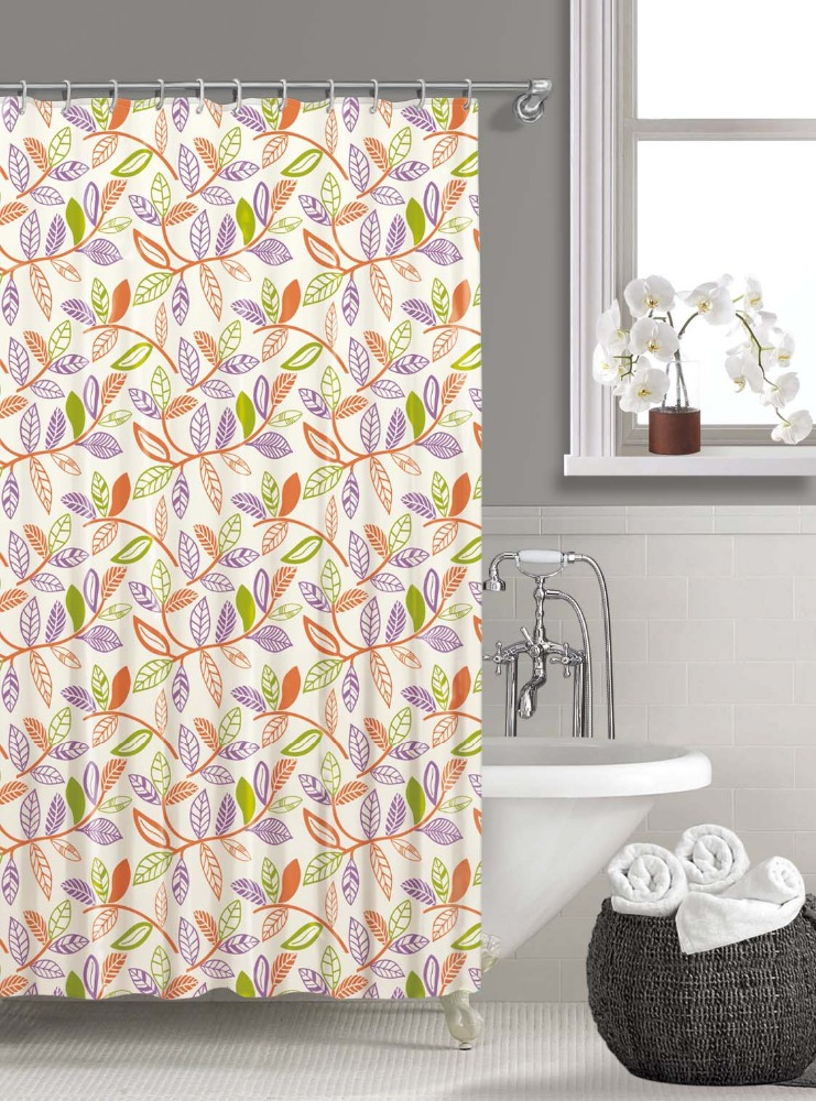 Professional design Colorul Leaf Pattern PEVA shower curtain