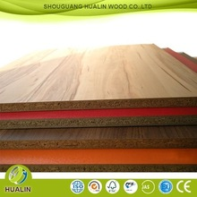 15mm/18mm melamine coated board/particle board size /prices chipboard