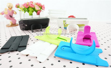 Simple Rubber Stand Mobile Phone Holder cell phone retail display stands with card holder