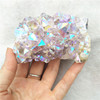 Natural colorful aura crystal angel cluster for decoration