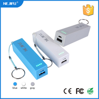 2016 new design portable mobile charger 2600 mah power bank with led indicator