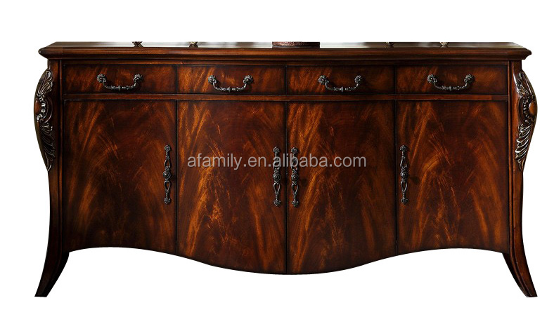 AFAMILY solid wood maple glaze kitchen cabinets wooden side cabinet with 135 degree dtc 351