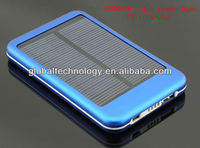 Dual USB 5000mAh solar charger power bank for mobile phone/iPhone/iPad