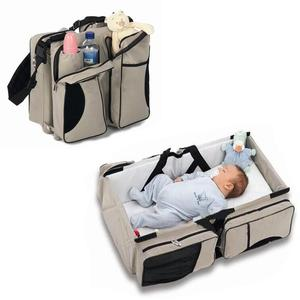 Magical Portable Folding Baby Travel Bed Mummy Bags Multifunctional Baby Diaper Bed Bag