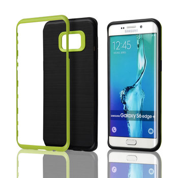 C&T Hybrid Metallized Bumper Brushed Dual Layer Portective Cover for Galaxy S6 Edge+ (Plus)