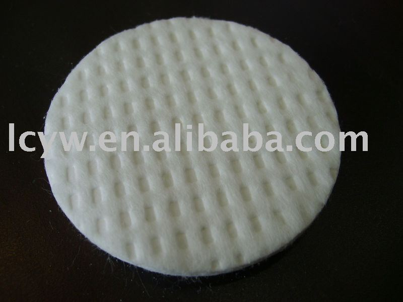 Wet natural cotton pad,inserting cotton pad
