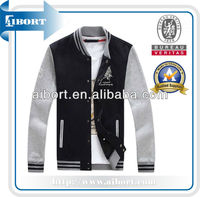 hot sale wool leather varsity letterman jacket