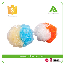 Work with any shower gel Customized size Cheap bath pouf
