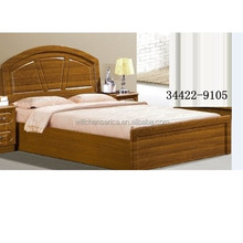 2015 New Design 34422-9105 Wooden MDF Golden Double Bed