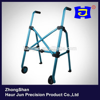 Blue aluminum forearm walker rollator for elderly