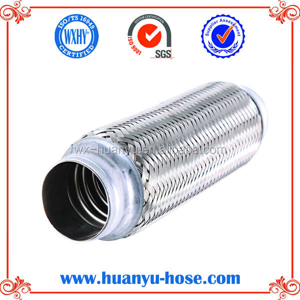 exhaust flexible tube without inner braid