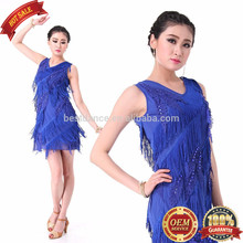 BestDance women sexy latin dance dress tassel ballroom dance clothes skirts 5 colors SIZE S M L
