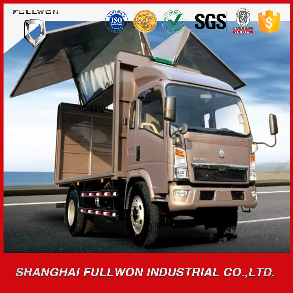 SINOTRUK Light Multifunction Van Truck Mobile shop truck / Mobile stage truck