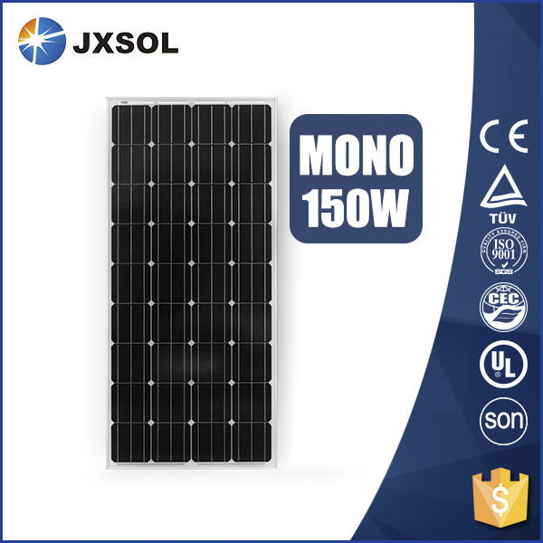 New best selling monocristalino 150 watt solar panels for daily use