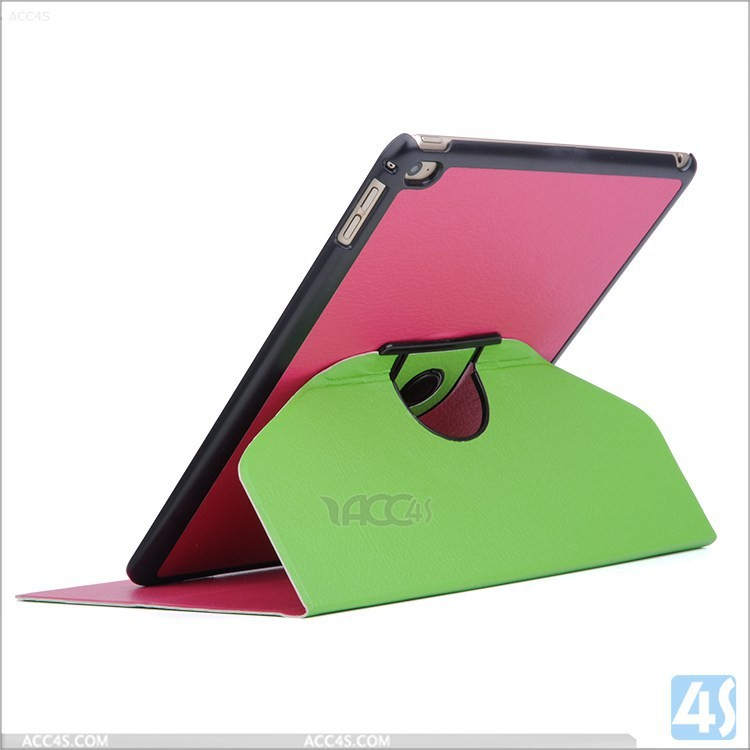 2015 New design Superior Anti- skid 360 degree rotating Leather Case for iPad Air 2