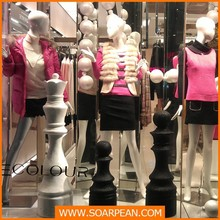 Modern Store Window Display Decorative Chess Pieces
