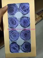 High Quality Logo Printing high quality preserved flower natural forever live rose fresh gift with OEM design service