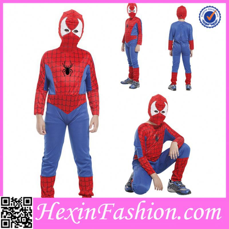 Red and Blue Boy Animal Spider Party halloween Costumes For Kids